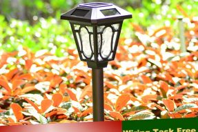 0.5W Solar Powered Garden Lights with Decorative Landscape Lighting