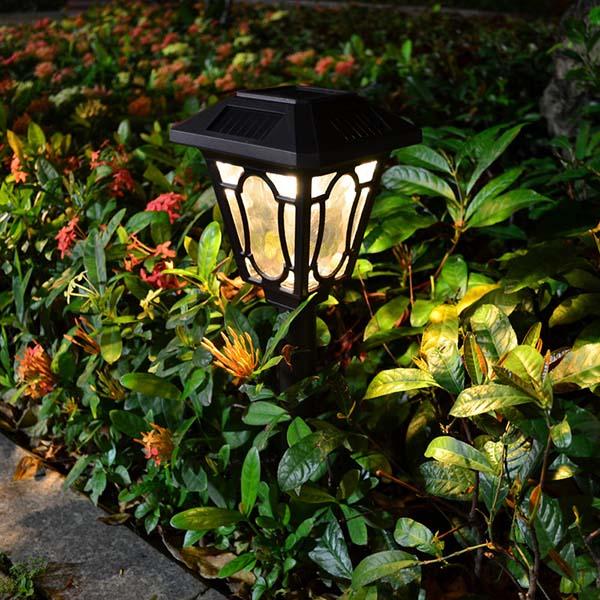 Solar Powered Garden Lights With Decorative Landscape Lighting Bingsolar Power