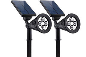 2W Solar Powered Flood Lights with Pure White Color Temperature