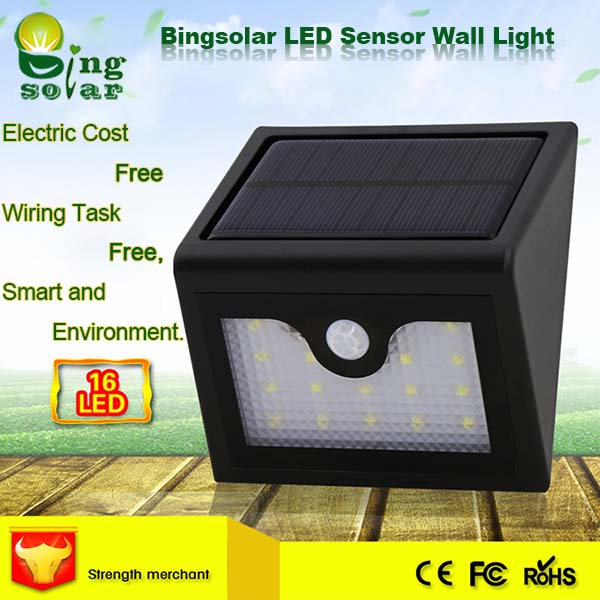 1.2W Motion Sensor Outdoor Activated Light with Cleaning Energy
