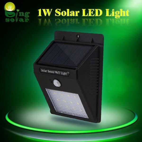 1W Outdoor LED Motion Sensor Lights for Courtyard