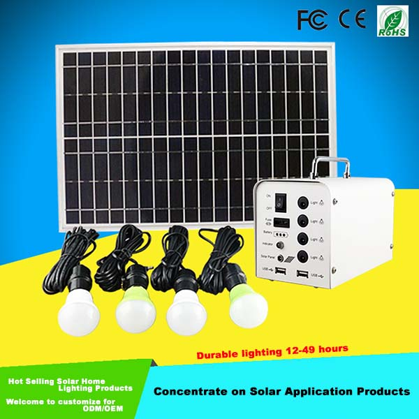 20W Solar Powered System Light for House