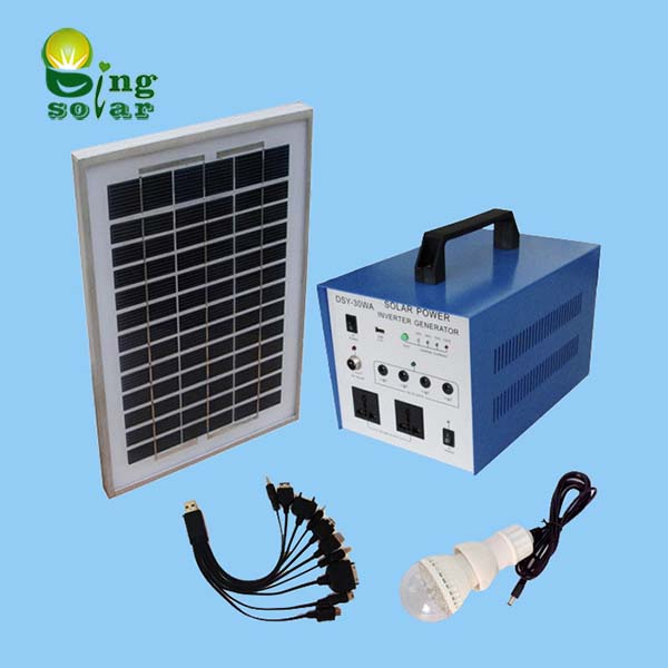 50W Portable Solar Electricity System for Home Use
