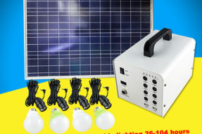 60W Residential Solar Power Electricity Generation Systems for Home
