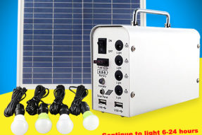 10W Solar Light Bulbs with Lighting Kits for Outside Travel