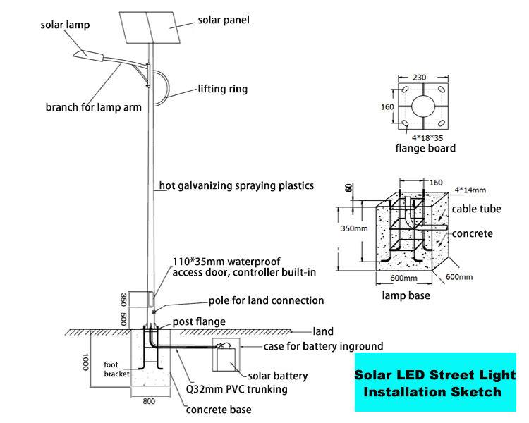 how to make solar street light