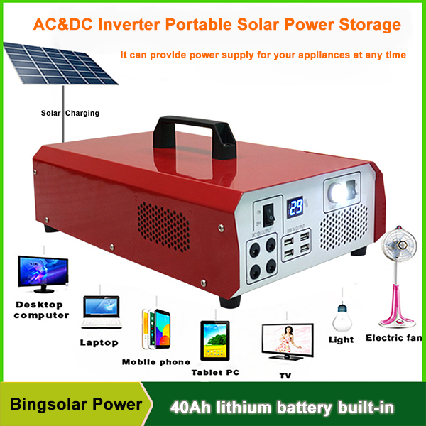 500W Portable Solar Generator for Electric Appliances