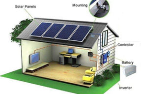 What is characteristic of off-grid solar power system ?