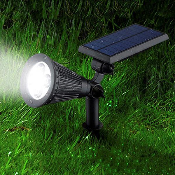 Outdoor Spotlight Solar Lawn Light With White Lighting Color Bingsolar