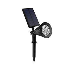 2.5W Outdoor Spotlight Solar Lawn Light with White Lighting Color