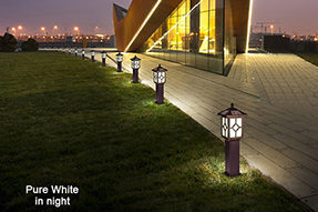 What is advantage for LED solar lawn light ?
