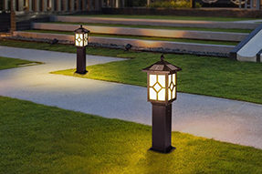 What is appropriate installation distance for LED solar lawn light ?