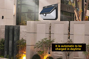 What is advantages for Motion Sensor Solar Wall Light ?