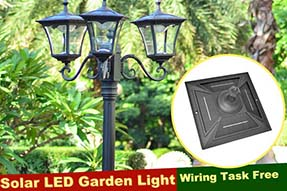 What factors might cause outdoor solar powered LED garden light not to work ?