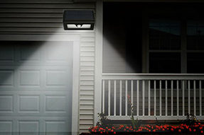 What is Advantage for Solar Powered Outdoor Wall Light ?