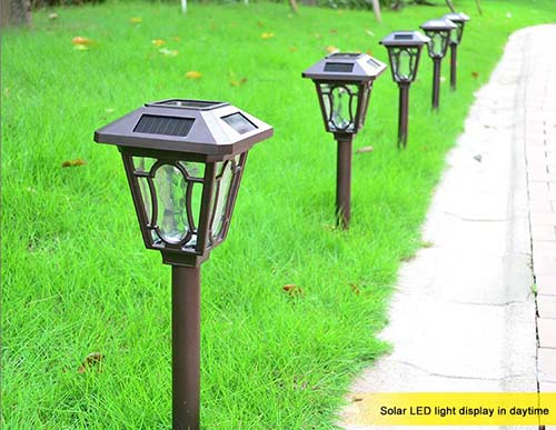 outdoor solar lighting fixture