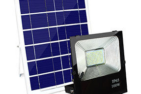 Outdoor IP65 Remote Control Solar Flood Light for Courtyard Landscaping
