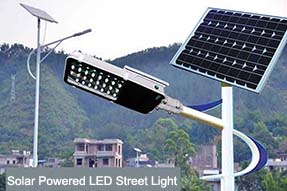 Why has increasing traditional LED street light been replaced by solar powered LED street light ?