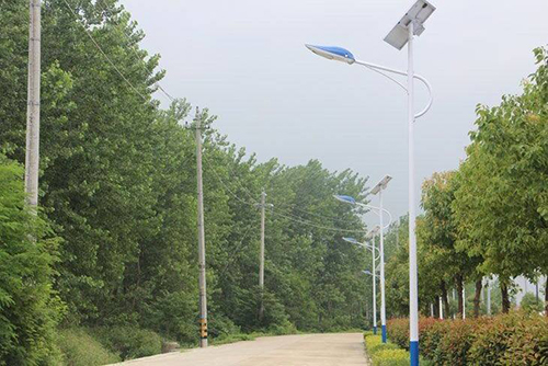 30W lithium battery solar powered street light