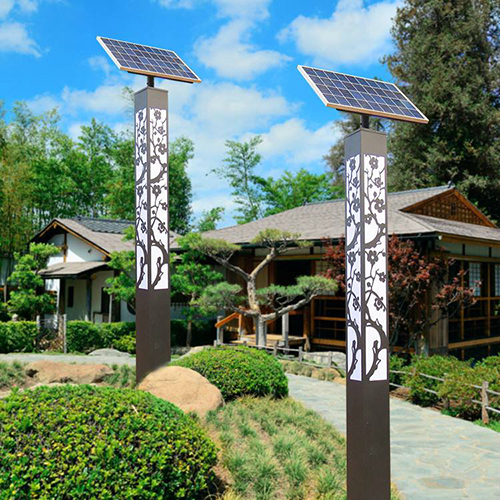 LED solar landscaping light