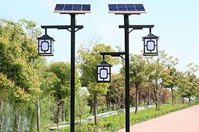 How many years can decorative solar LED courtyard light work?