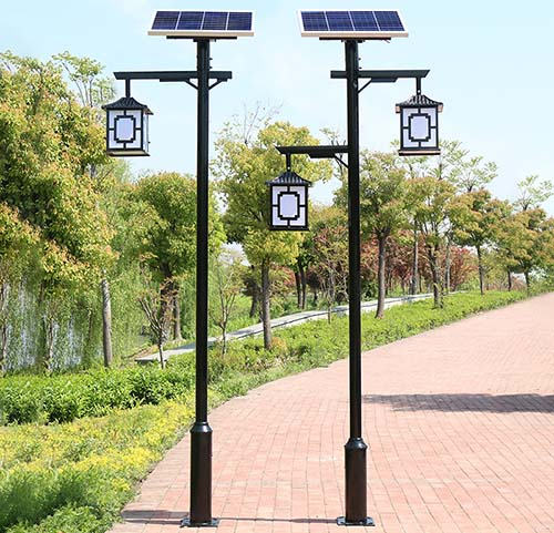 decorative LED solar courtyard light