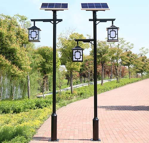 decorative LED solar courtyard light