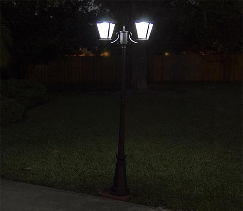 decorative solar courtyard light
