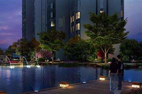 Why is outdoor LED landscape light popularly selected for urban decoration?