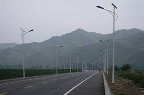 Why is outdoor solar street lamp popularly welcome in Africa?