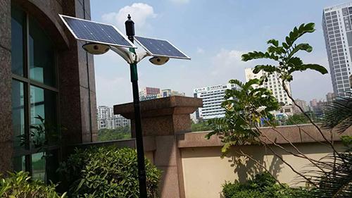 solar powered courtyard light