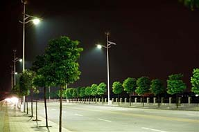 What is basic requirement for solar street light?