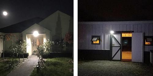 6W Solar LED Motion Sensor Wall Light