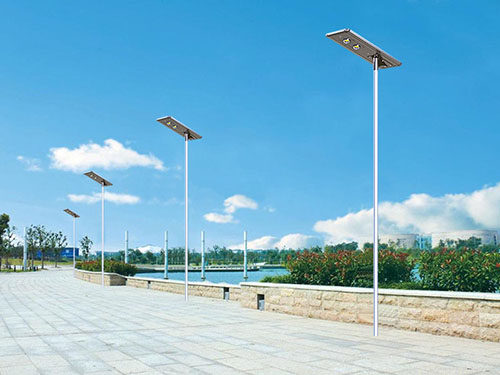 All in one solar powered street light