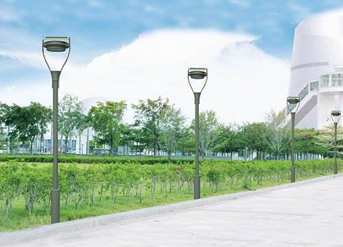 solar powered garden lamp