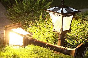 What are main factors for solar LED garden landscape light being popular in market?