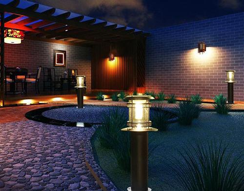 solar LED garden light and lawn light