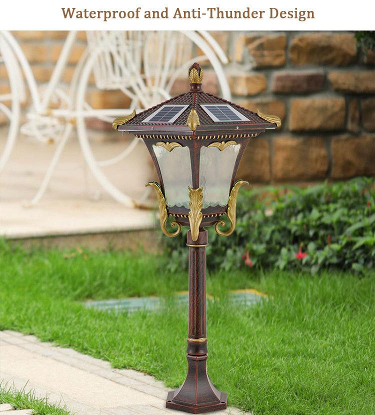 solar LED lawn light