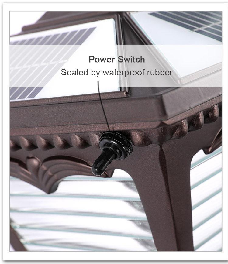 solar powered LED lawn light