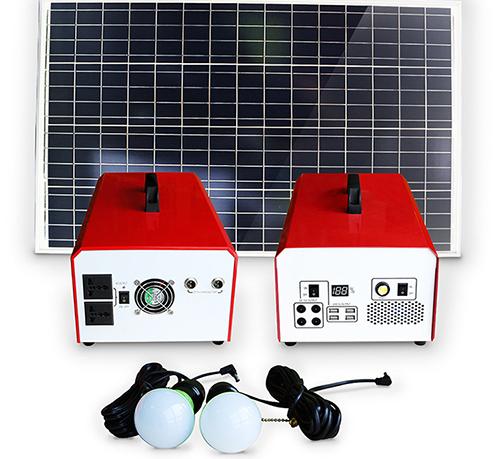 portable solar power generator kit