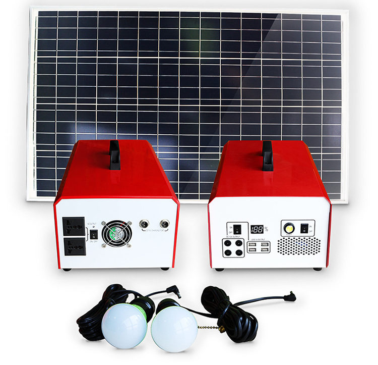 Portable solar power generator kit