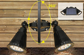 How to install solar powered LED wall light for outdoor wall?