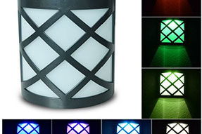 Colorful RGB Automatic Variation Garden Fence Solar Light for Landscape Lighting