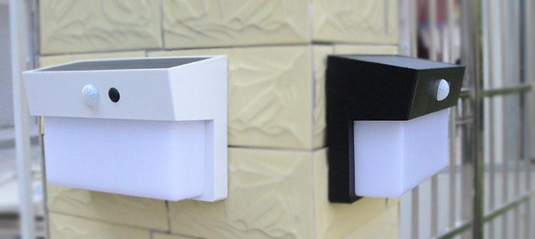 solar powered LED wall light