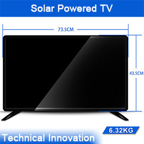 6.32KG 32Inch LED Display Solar Powered TV with 13.2Ah Lithium Battery Built-in