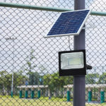 solar flood light with remote control