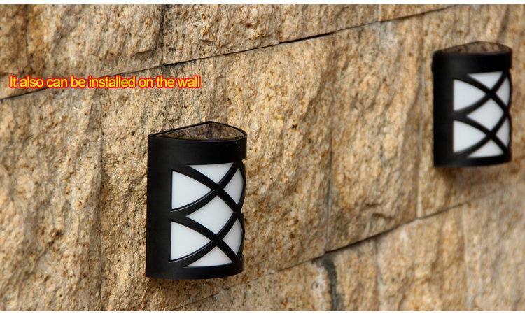 solar powered LED fence light