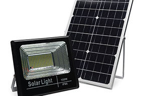 Wireless Solar Flood Light Charged by Mono Solar Panel with LiFePO4 Battery Inside