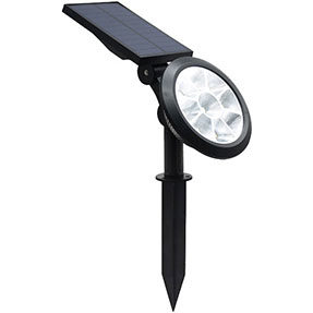 Outdoor Solar Lawn Light 12h Lighting Time with Ground & Wall Installation Types