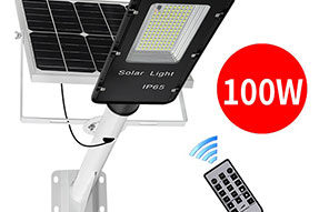 Solar Panel Street Light 50W to 200W Power Lighting Output